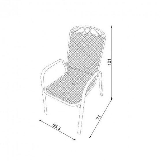 Melfi fém kerti szék