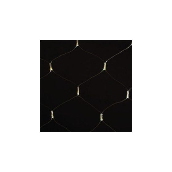 LED meleg fehér fényháló 8 programos vezérlővel (fekete kábel)