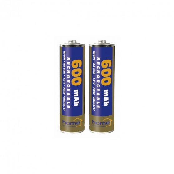 Akkumulátor, AA, 600mA, NiMh, 2db/bliszter