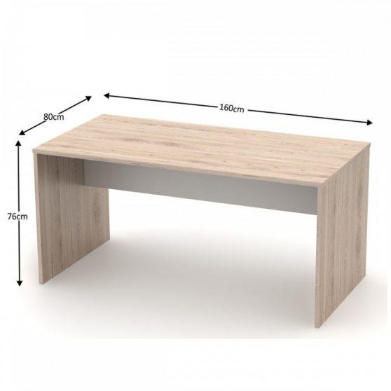 RIOMA TYP 16 Íróasztal, san remo-fehér