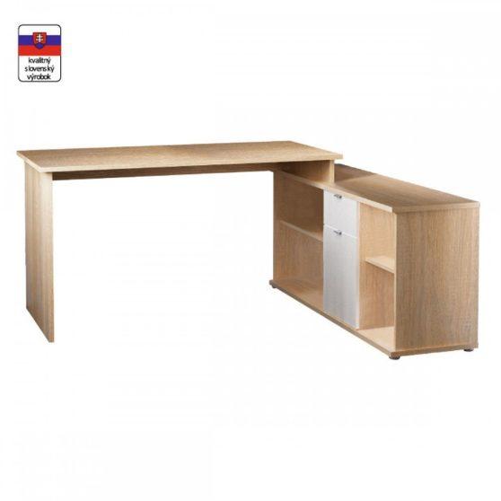 DALTON NEW Íróasztal sonoma tölgy/fehér