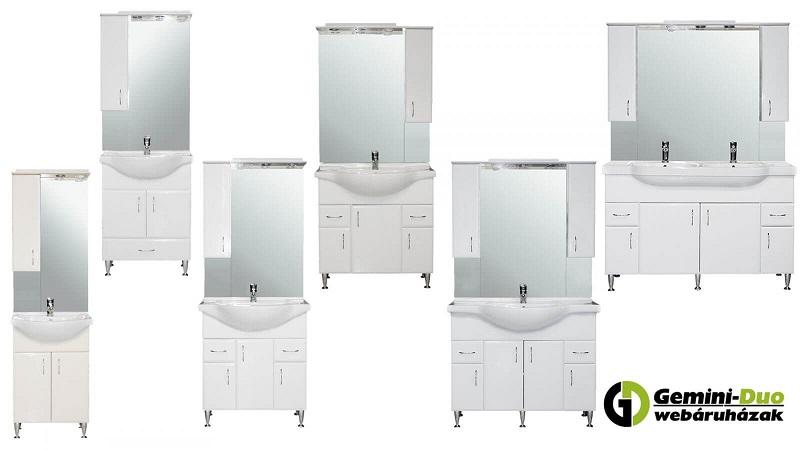 A Bianca Plus bútorcsalád 6 különböző méretben kapható a Gemini-Duo webáruházban  (55, 65, 75, 85, 105 és 130 cm szélességben)