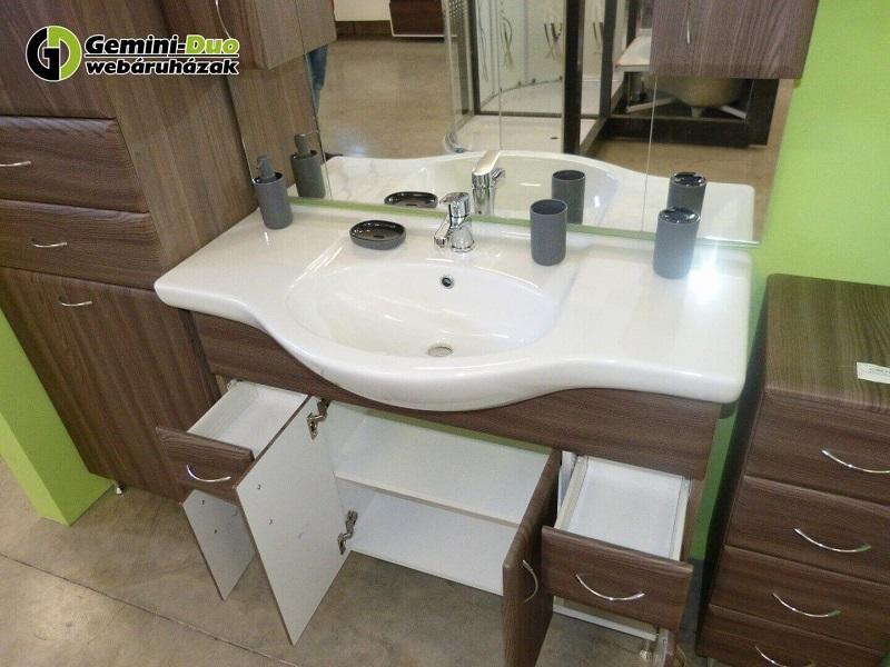 Bianca Plus komplett fürdőszoba bútor 1 mosdóval