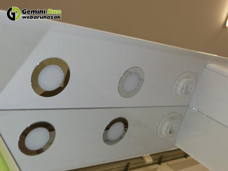 Bianca Plus felső fürdőszoba szekrény 2 LED világítással és 1 gumírozott kapcsolós dugaljjal